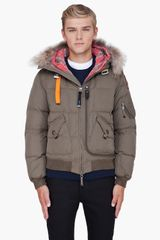 Parajumpers Olive Raccoon Fur Hood Copy Jacket - Lyst