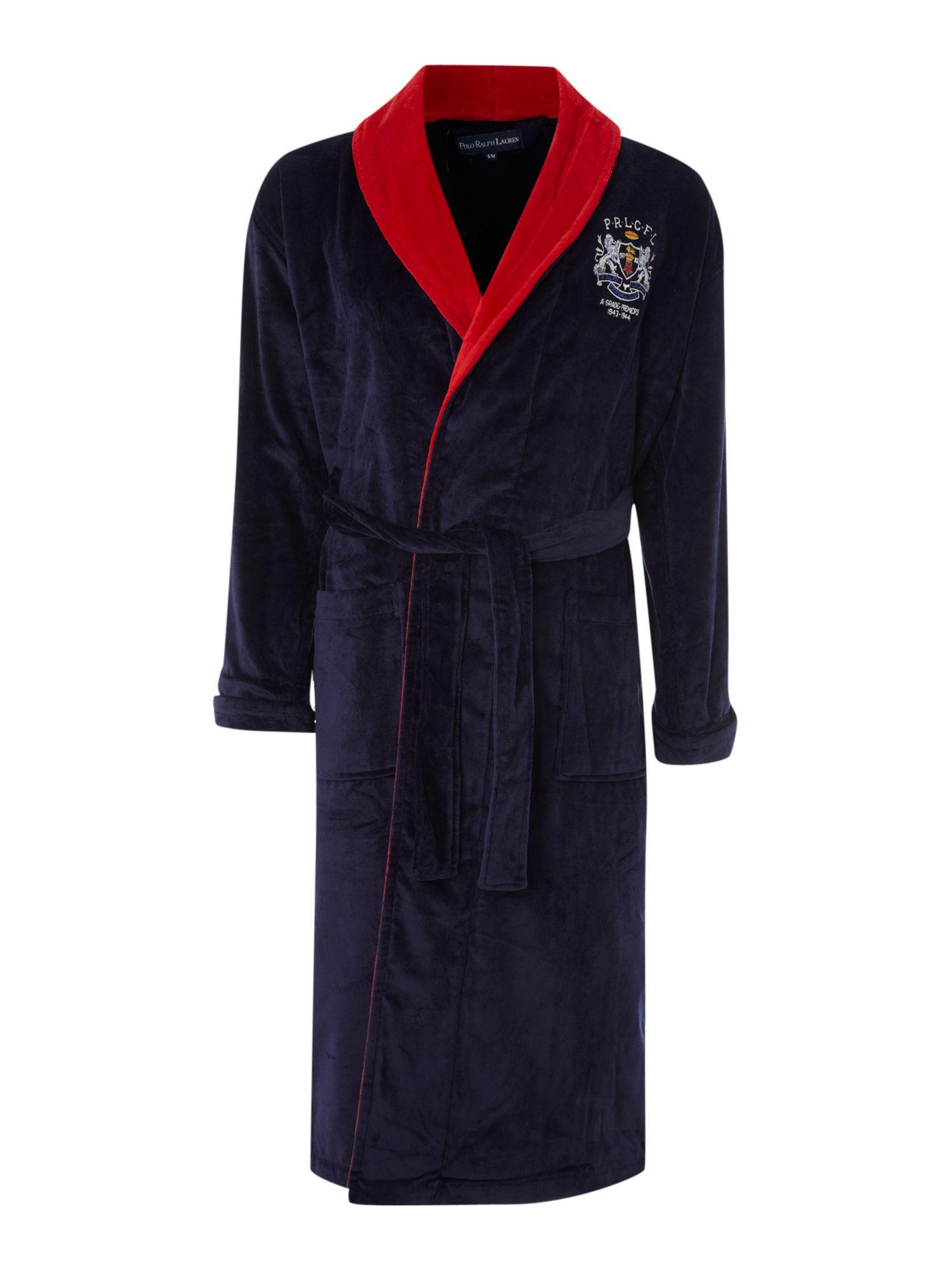 Polo ralph lauren contrast collar robe in blue for men lyst for Robe chemise ralph lauren