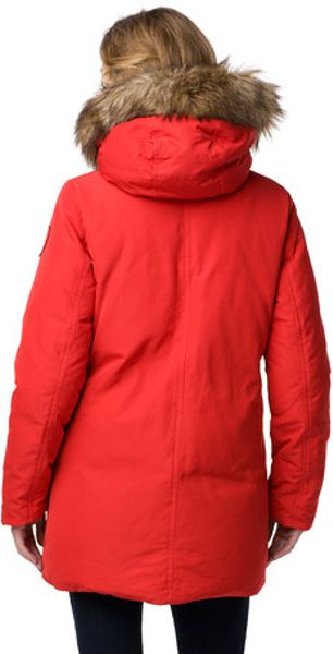 Tommy Hilfiger Fairmont Down Coat in Red (apple red) | Lyst