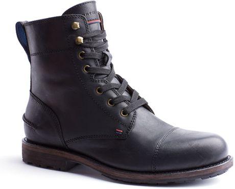 Tommy Hilfiger Clift Ankle Boots in Black for Men
