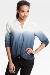 Two By Vince Camuto Long Sleeve Utility Blouse - Lyst