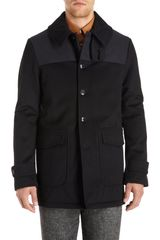 Adam Kimmel Felted Jacket with Nylon Yoke - Lyst