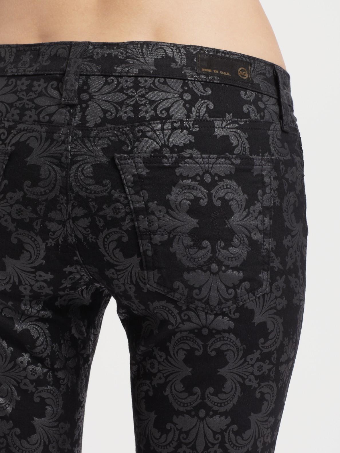 Black Printed Jeans | Ku Jeans