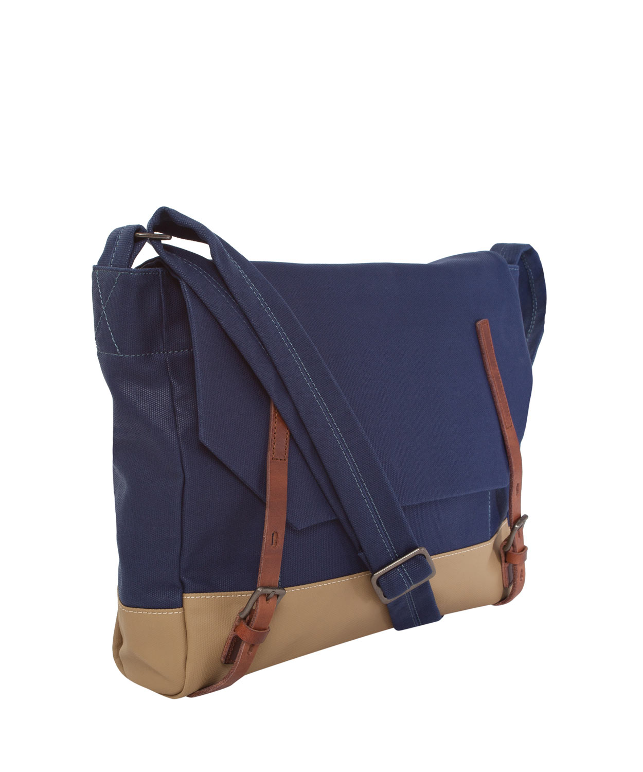 Ally capellino Navy Danny Waxed Canvas Messenger Bag in Blue for ...