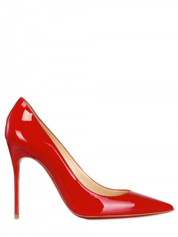 b016d6546403 Lyst - Christian Louboutin 100mm Decollete 554 Patent Pointy Pumps ...