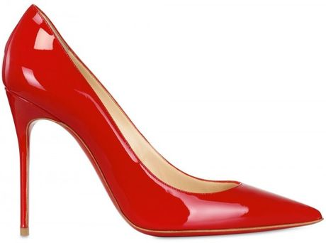 Christian Louboutin 100mm Decollete 554 Patent Pointy Pumps in Red - Lyst