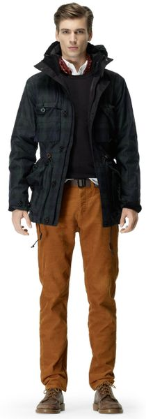 Club Monaco Military Snorkel Jacket In Black For Men