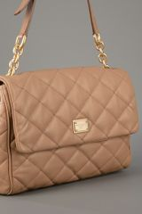 Dolce & Gabbana Quilted Shoulder Bag in Beige (nude) - Lyst