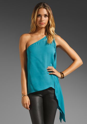Jay Godfrey Burns One Shoulder Kimono Blouse - Lyst