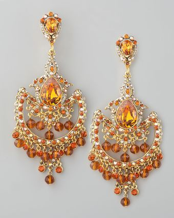 Jose & Maria Barrera Topazcolored Drop Earrings - Lyst
