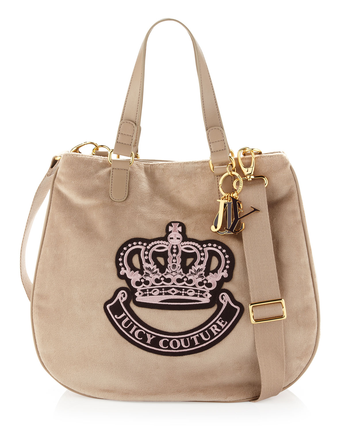 juicy couture victoria velour tote bag ancient in beige ancient lyst. Black Bedroom Furniture Sets. Home Design Ideas