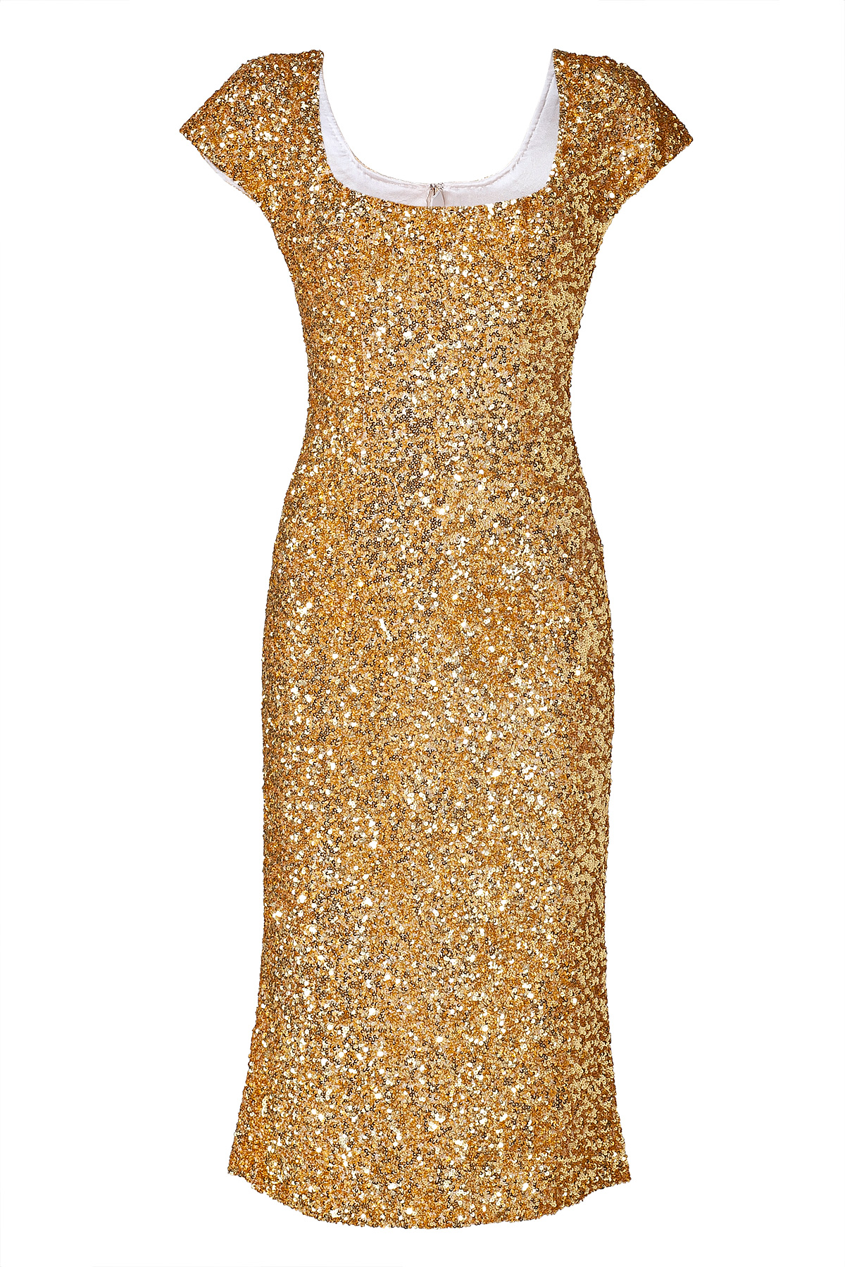 Emilio Pucci Caviar Gold Sequins Dress View Fullscreen