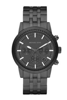 Michael Kors Mens Midsize Gunmetal Stainless Steel Runway Chronograph Watch - Lyst