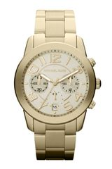 Michael Kors Midsize Golden Stainless Steel Mercer Chronograph Watch - Lyst