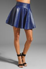 Milly Leather Delphine Swirl Skirt - Lyst