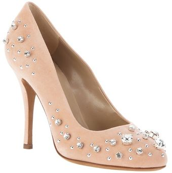 Moschino Cheap & Chic Embellished Pump - Lyst