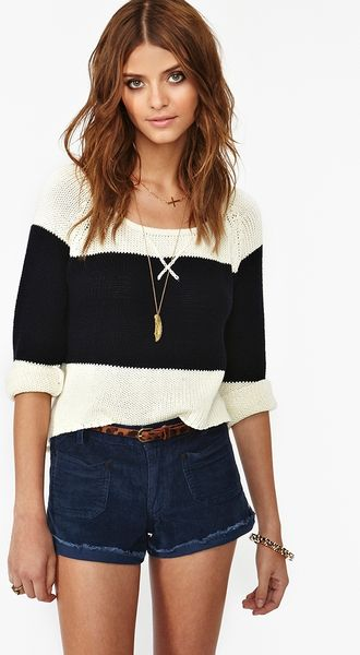 Nasty Gal Sailors Cut Off Shorts  in Blue (navy) - Lyst