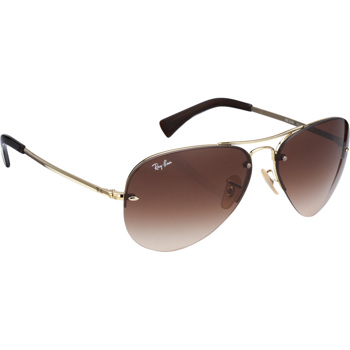 a3d84d151 Ray-Ban Rimless Aviator in Metallic for Men - Lyst