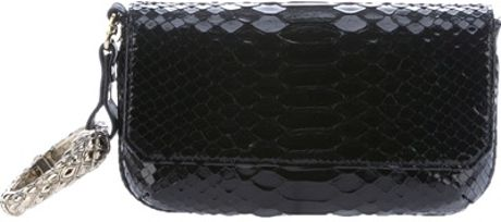 Roberto Cavalli Wrist Clutch in Black - Lyst