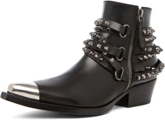 Sartore Parma Bootie with Studs in Black - Lyst