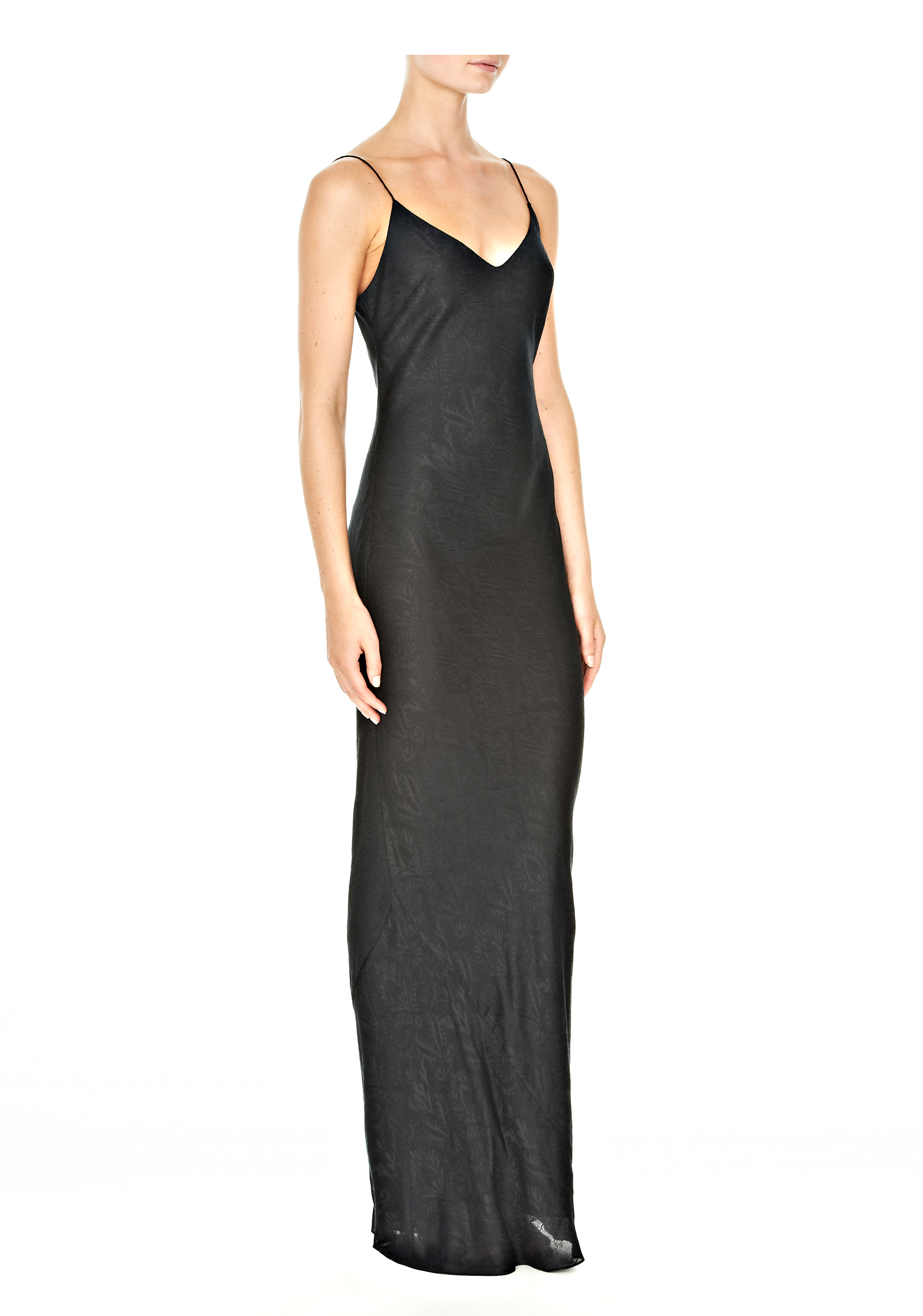 Alexander wang Long Slip Dress in Black  Lyst