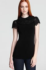 Alice + Olivia Top Luiza Pleated Sleeve - Lyst