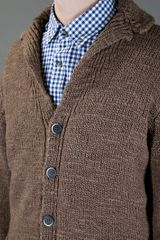 Barena Knit Cardigan in Brown for Men - Lyst