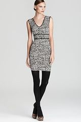 Bcbgmaxazria Dress Fancy Leopard Jacquard in Animal (gardinia combo) - Lyst