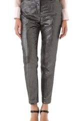 By Malene Birger Sarafina Houndstooth Pants - Lyst