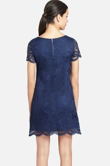 Cynthia Steffe Reese Illusion Sleeve Lace Shift Dress - Lyst