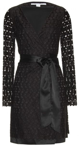 Diane Von Furstenberg Derbette Dress in Black - Lyst