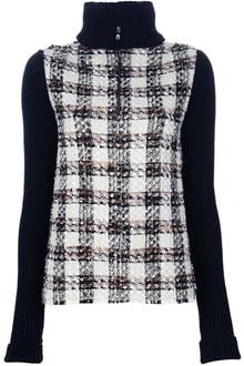 Dolce & Gabbana Roll Neck Tartan Sweater - Lyst