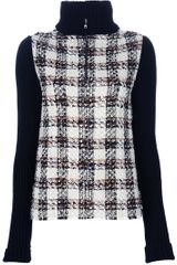 Dolce & Gabbana Roll Neck Tartan Sweater in Black - Lyst