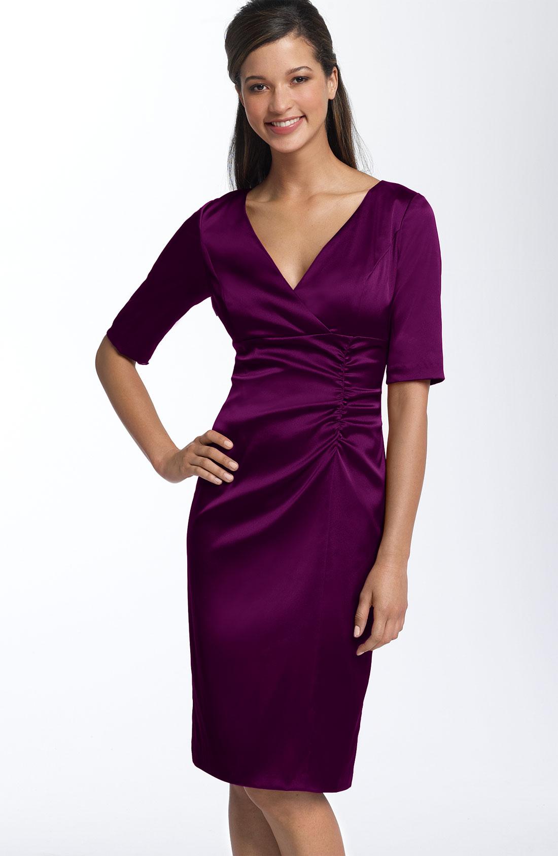 Платье из сатина-стрейч