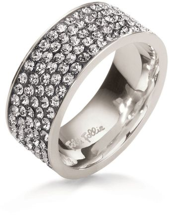 Folli Follie Match Dazzle Grey Crystal Ring - Lyst