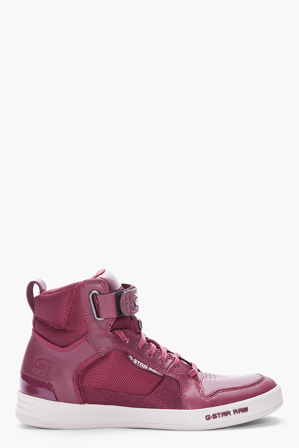 g star raw burgundy leather yard bullion sneakers in purple for men burgundy lyst. Black Bedroom Furniture Sets. Home Design Ideas