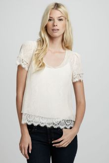 Madison Marcus Lace Combo Top - Lyst