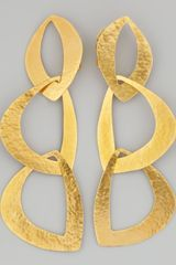 Herve Van Der Straeten Linked Leaf Clip Earrings - Lyst