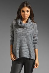 James Perse Open Stitch Marina Sweater - Lyst