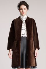 Marni Shearling Coat - Lyst