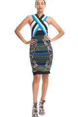 Peter Pilotto Emelie Dress in Blue (lime blue) - Lyst