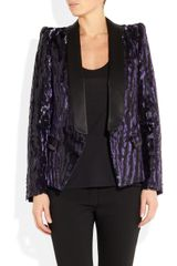 Roberto Cavalli Animalprint Brocade Tuxedo Jacket in Purple (animal) - Lyst
