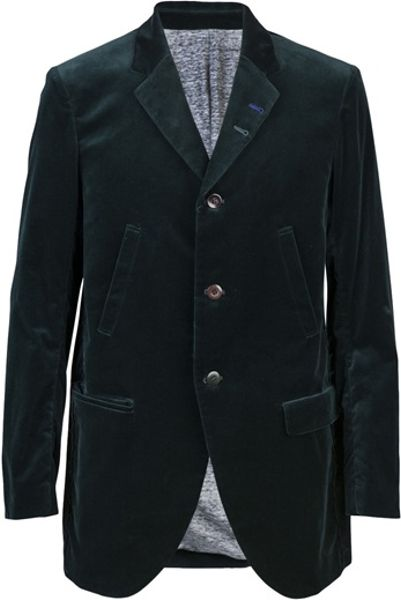 Undercover Velvet Blazer in Green for Men - Lyst