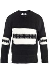 Yves Saint Laurent Razor Motif Wool Sweater - Lyst
