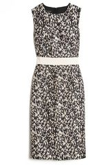 Giambattista Valli Knit Print Sleeveless Dress