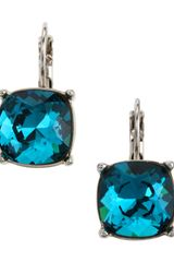 Kenneth Jay Lane Cushioncut Earrings Sapphire Blue - Lyst