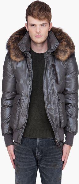 Mackage Grey Raccoon Fur Hood Diego Jacket In Gray For Men