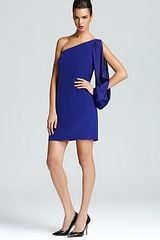 Nicole Miller One Shoulder Dress Long Sleeve - Lyst
