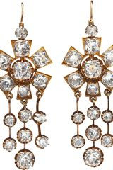 Olivia Collings Antique Jewelry Rock Crystal Chandelier Drop Earrings