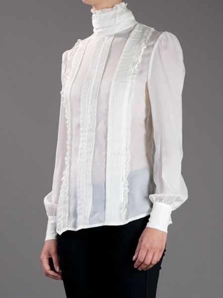 White Pleated Blouse 61